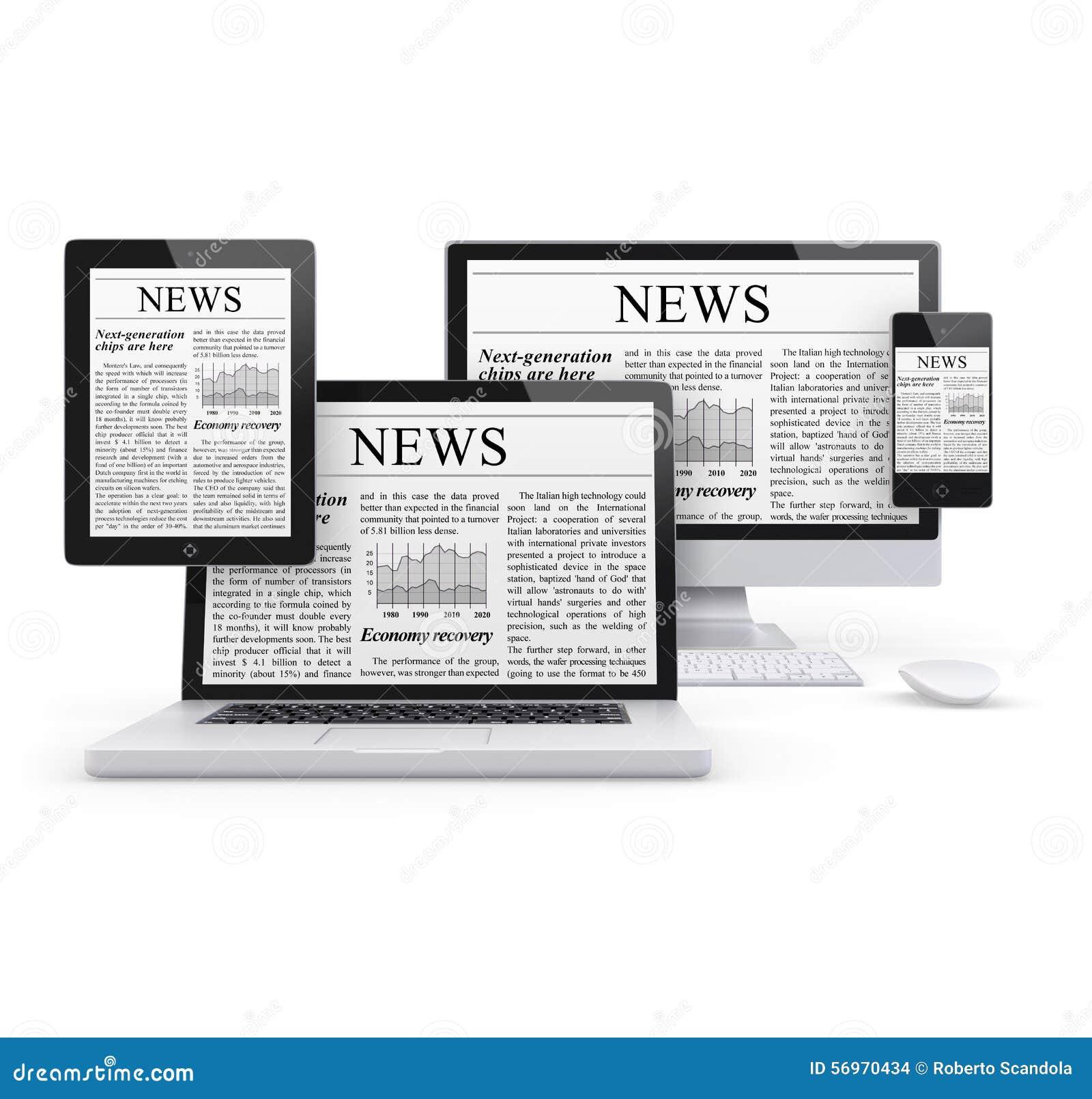 computer news stock illustration  illustration of display