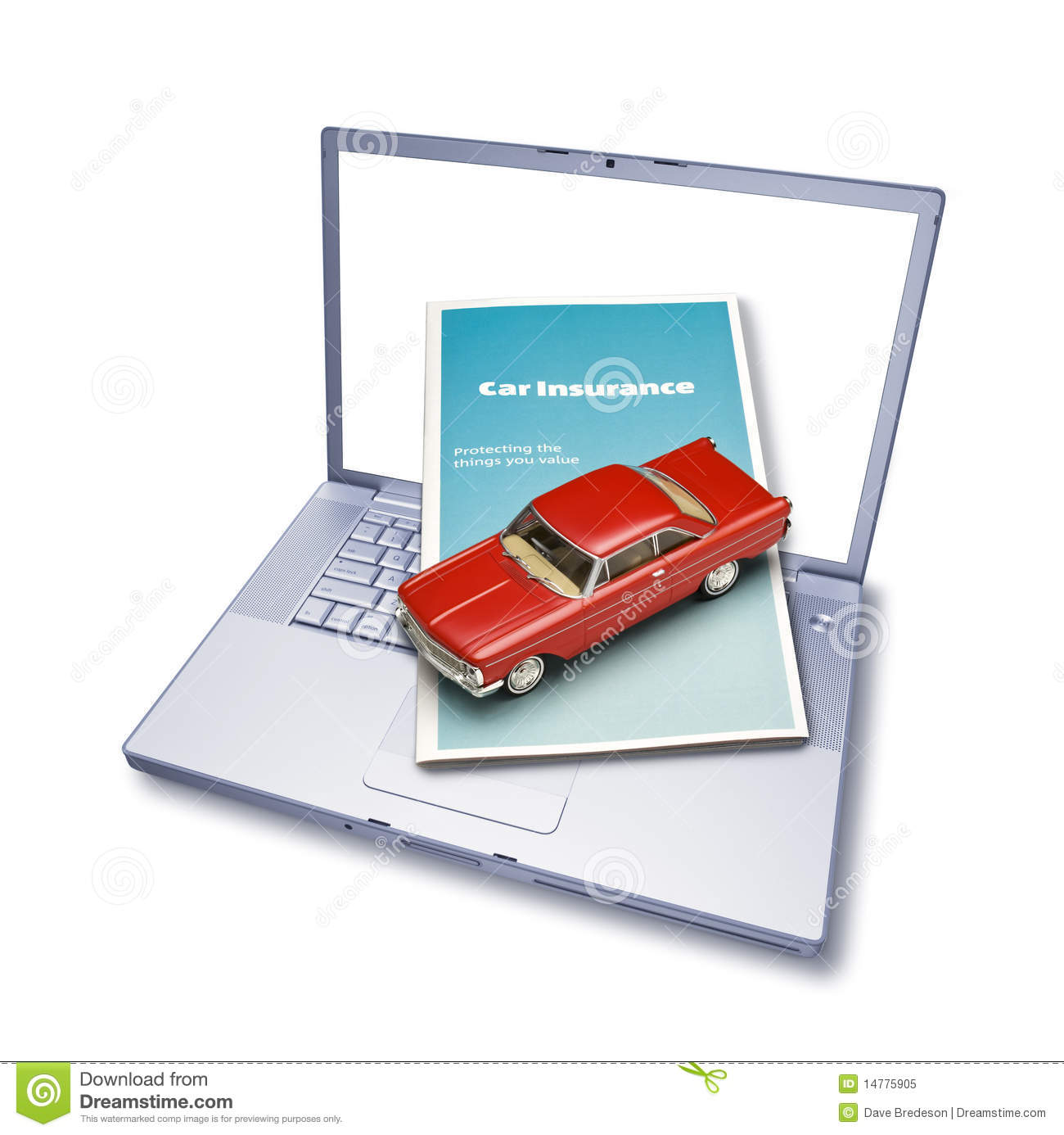 Computer Online Car Insurance Royalty-Free Stock