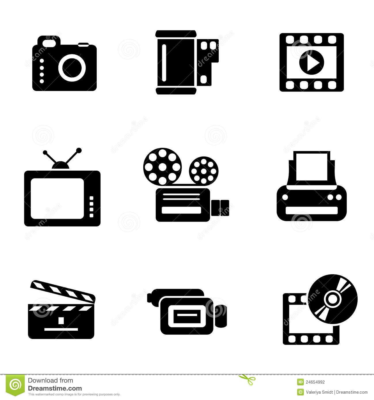 computer photo-video icons stock photography
