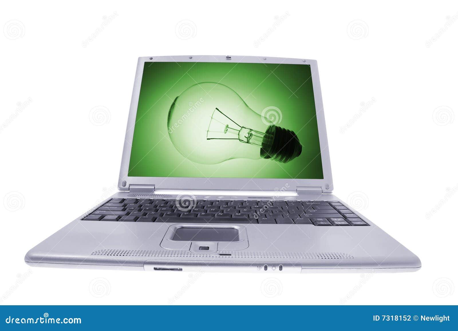Download Computer Portatile Del Calcolatore Fotografia Stock - Immagine di ufficio, rilievo: 7318152