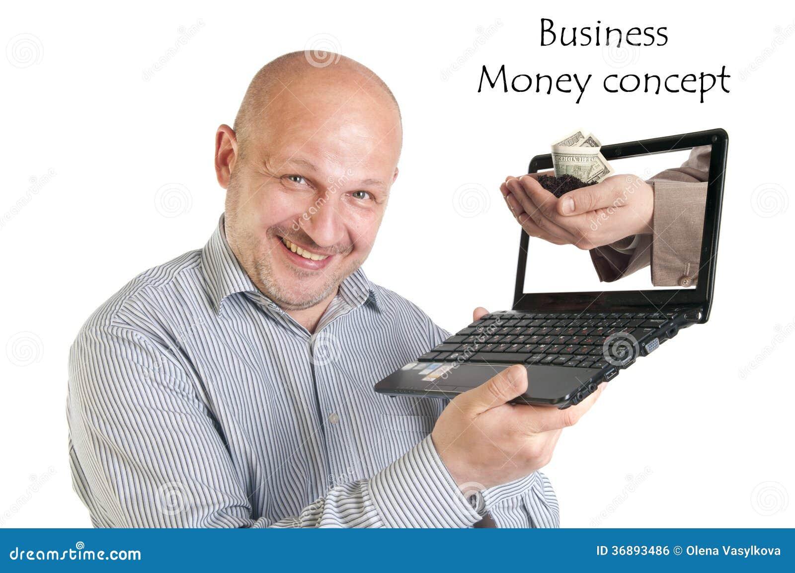 Download Computer Portatile Della Tenuta Dell'uomo D'affari Su Fondo Bianco. Fotografia Stock - Immagine di laptop, accreditamento: 36893486