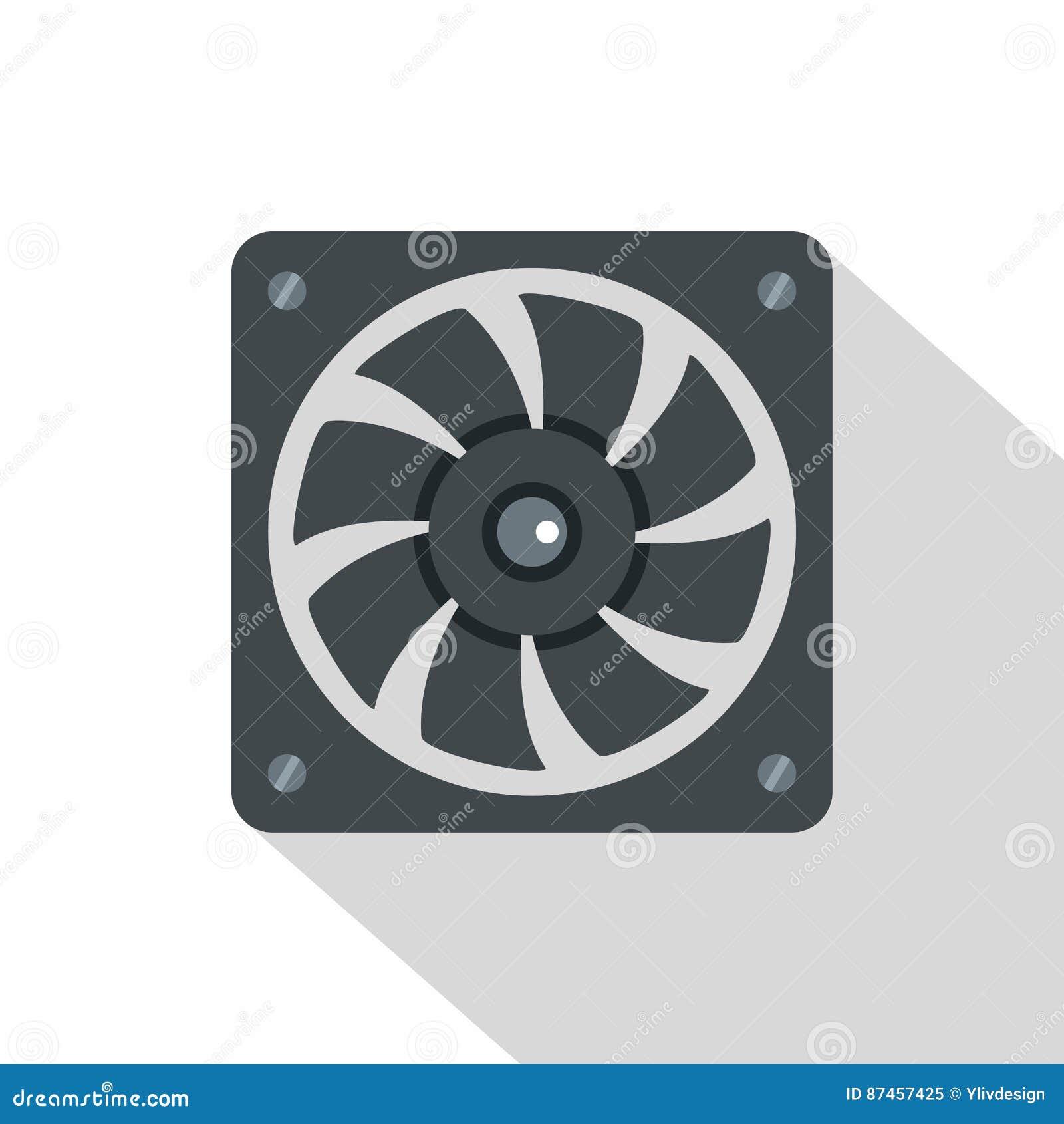 Computer power supply fan icon flat style stock vector computer power supply fan icon flat style biocorpaavc Choice Image