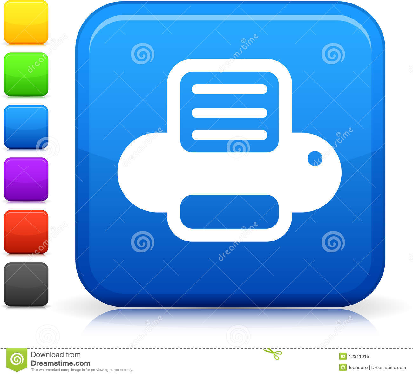 Color Printer Icon Computer printer icon on