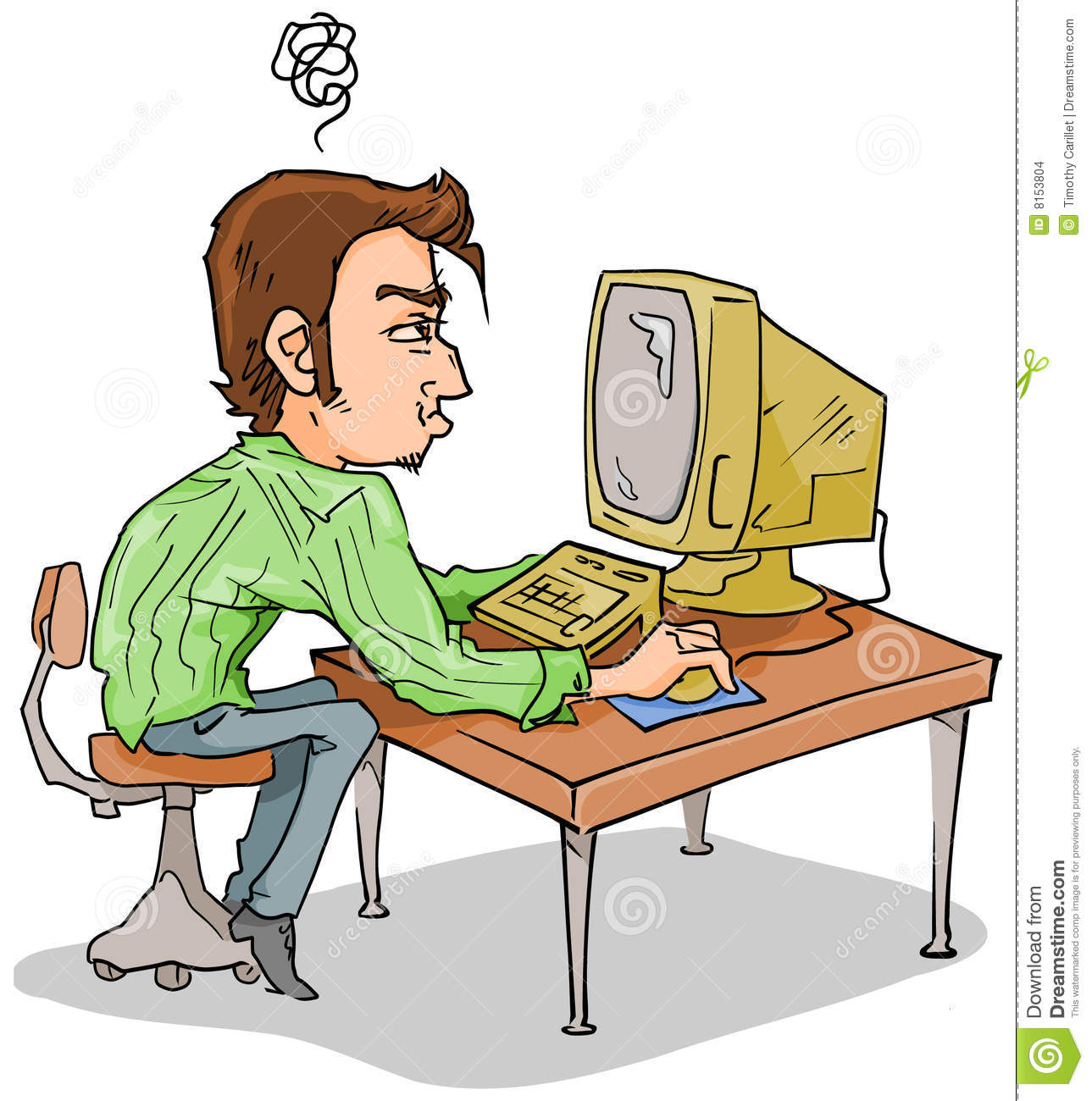 Computer Issues Clip Art: Computer Problems Stock Images