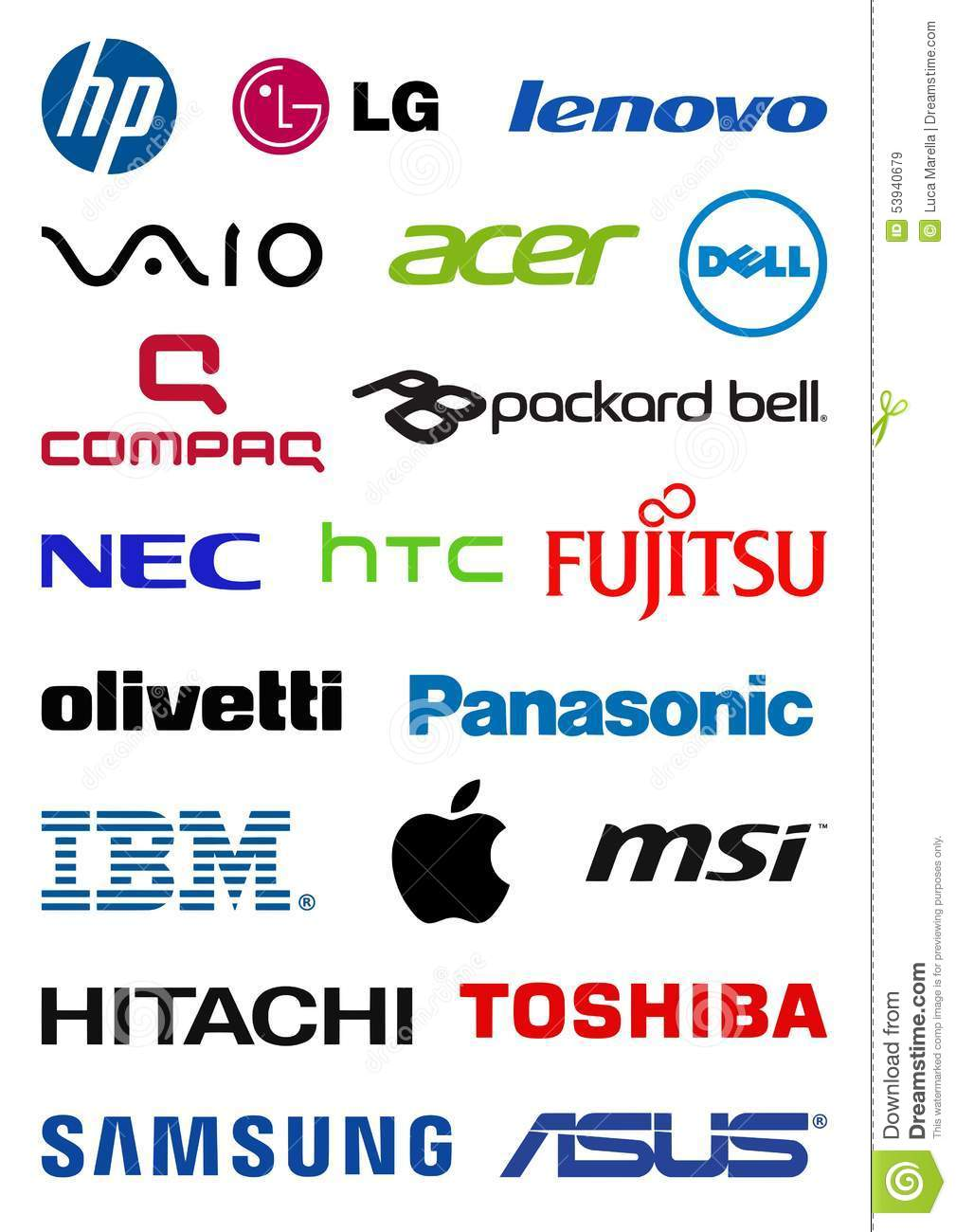 Computer Producers Logos Editorial Stock Image - Image ...
