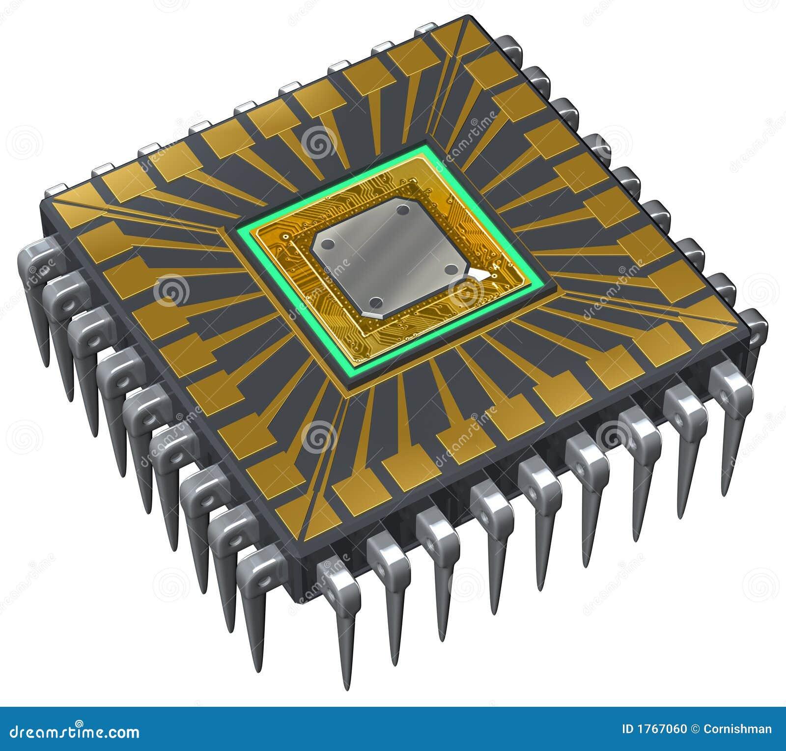 Computer-Prozessor Stock Abbildung. Illustration Von