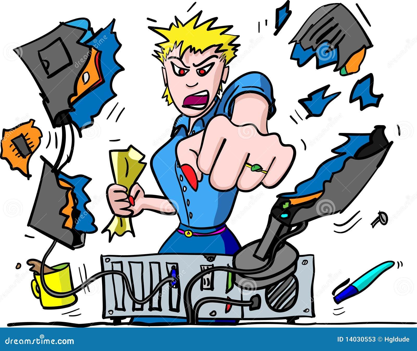 Download Computer Rage stock vector. Illustration of break, business - 14030553