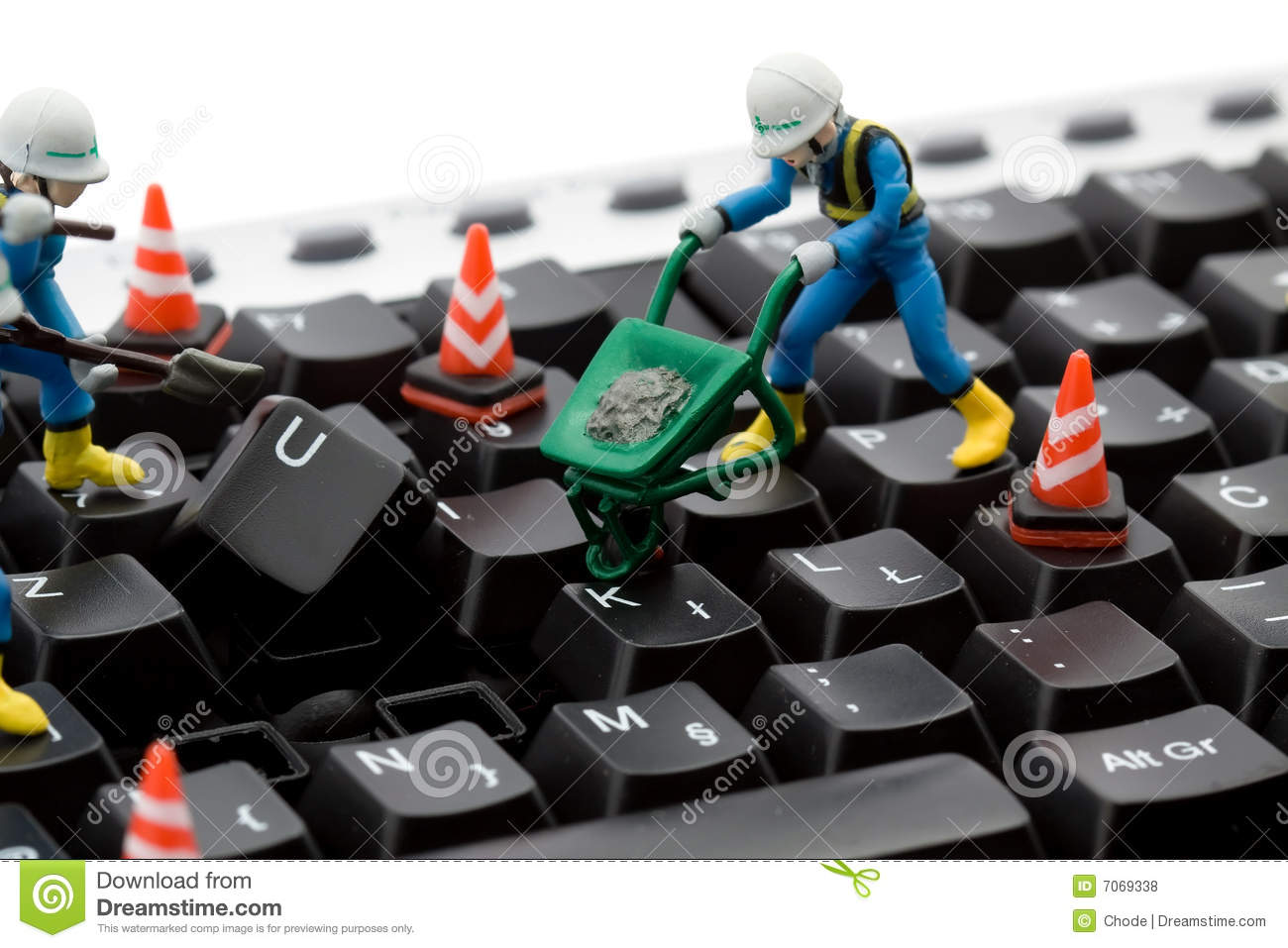 computer repair concept workers repairing keyboard royalty free stock photos