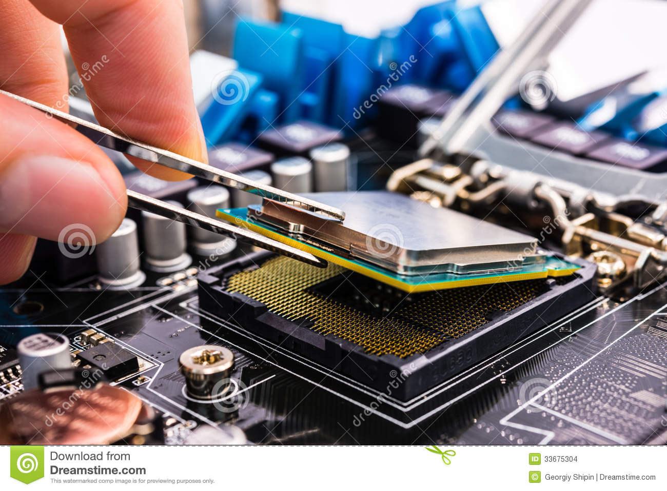 computer repair stock photo image of assistance circuit 33675304. Black Bedroom Furniture Sets. Home Design Ideas