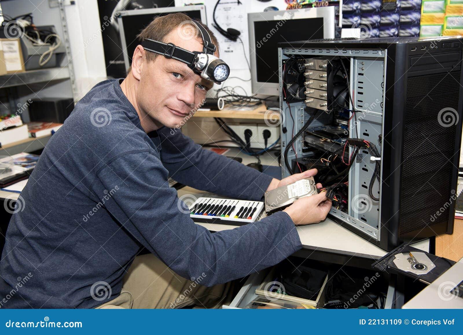Computer Repair Shop Royalty Free Stock Images
