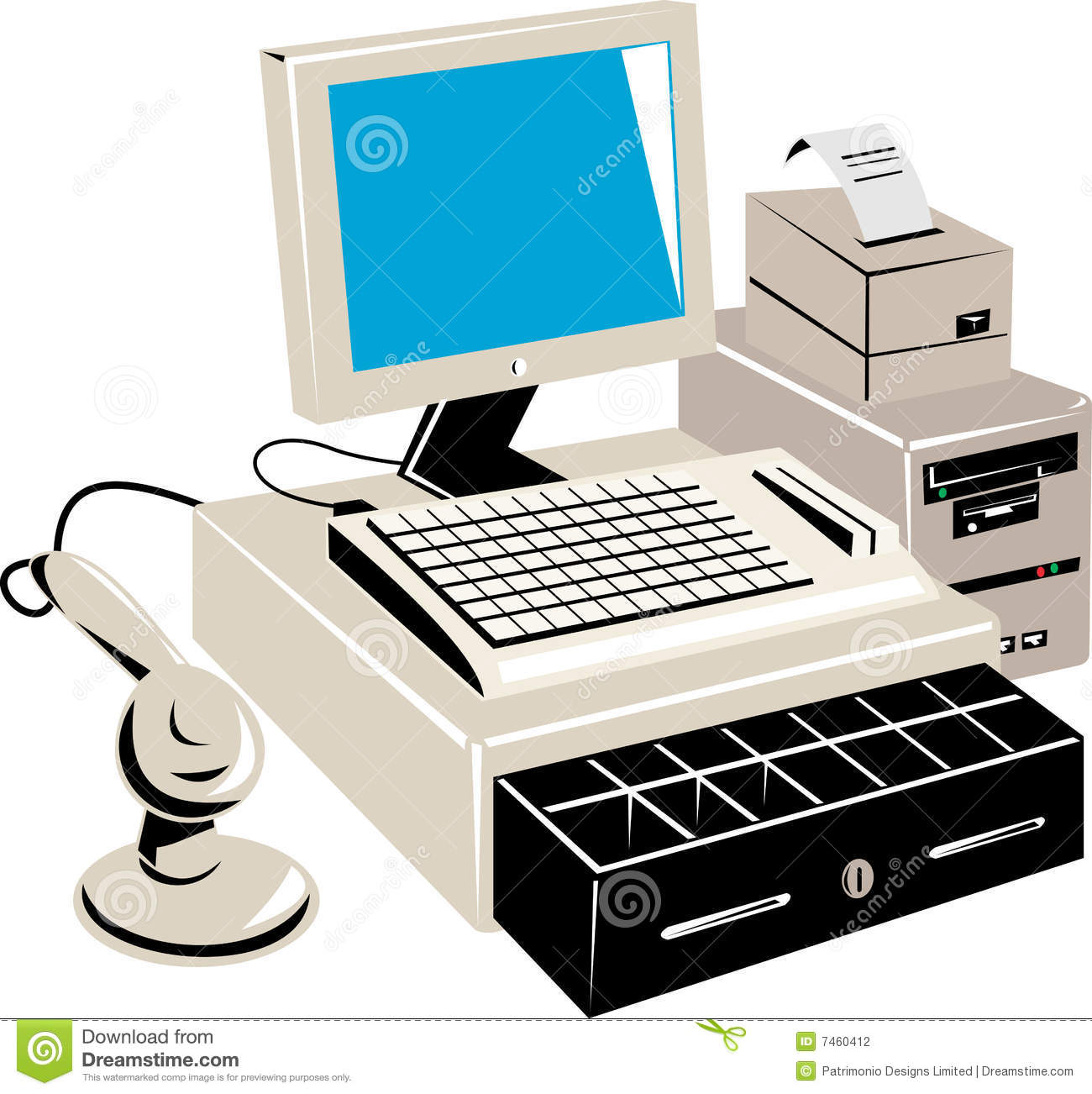 Computer Retail Point Of Sale Stock Illustration Image