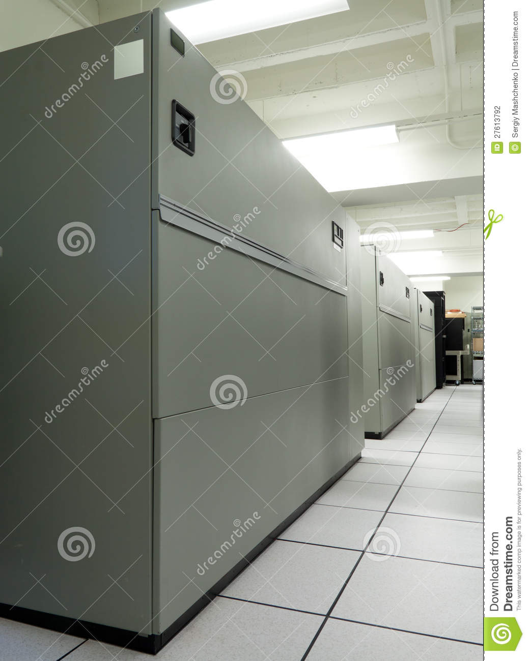 Computer Room Air Conditioning Crac Units Stock Photo