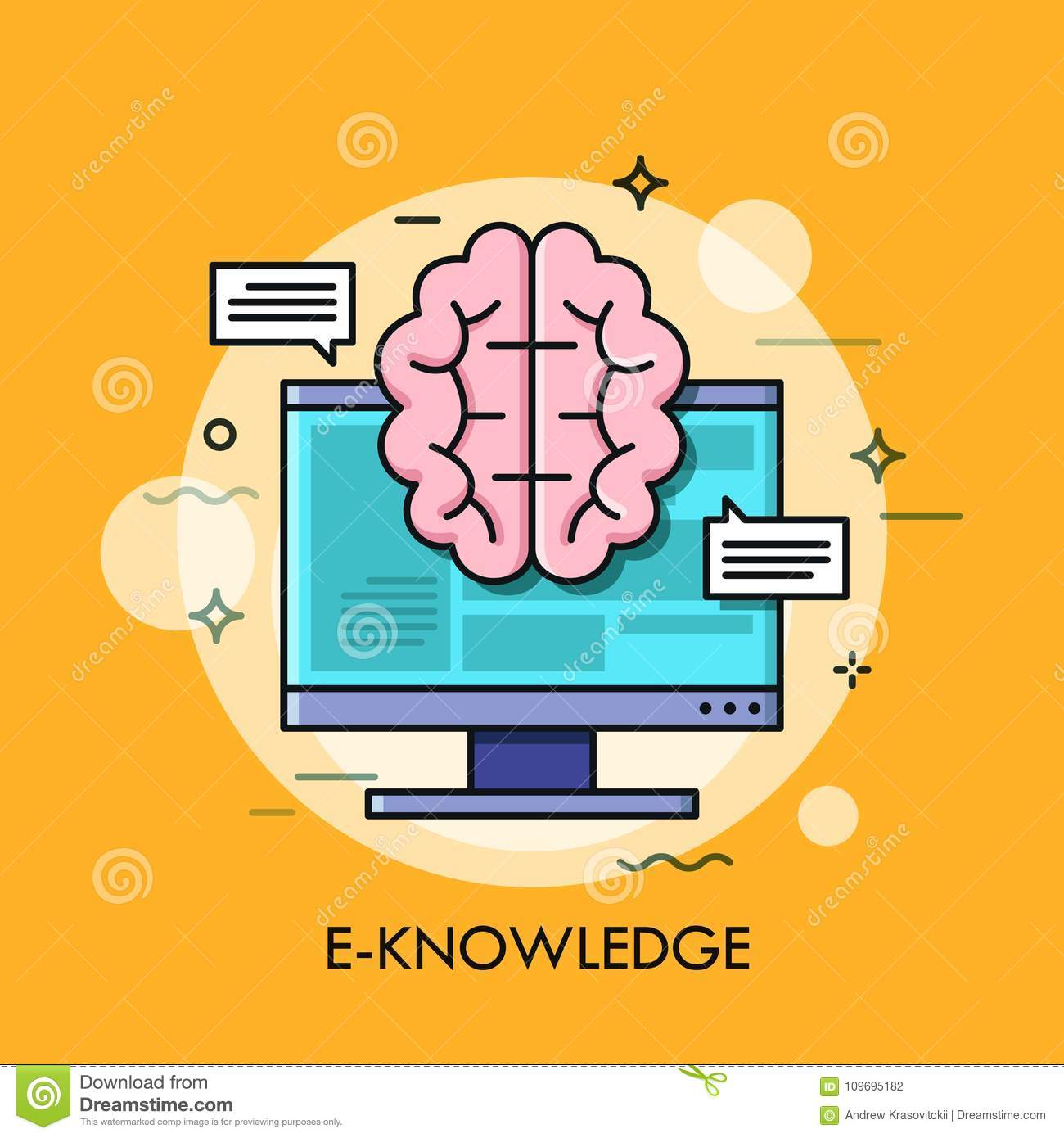 Computer screen and brain