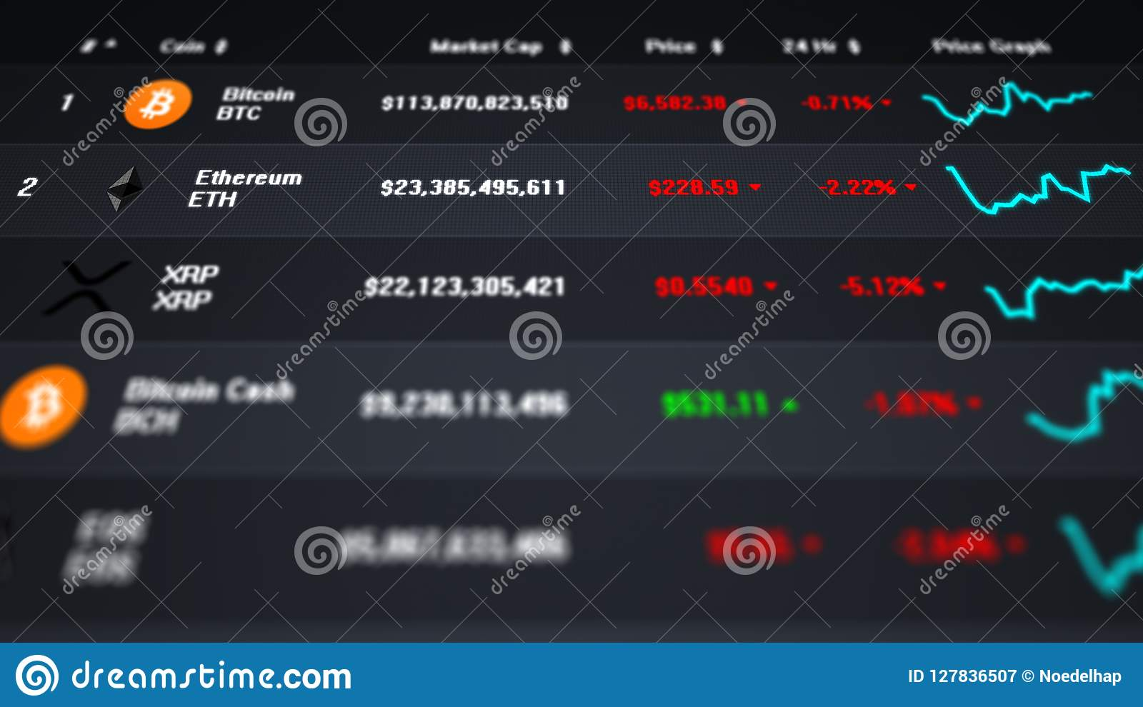 cryptocurrency stock market list