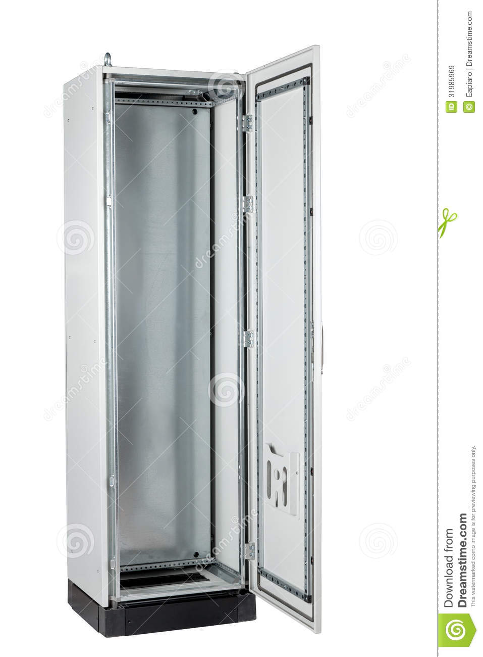 Computer Server Rack Cabinet Stock Image - Image of empty