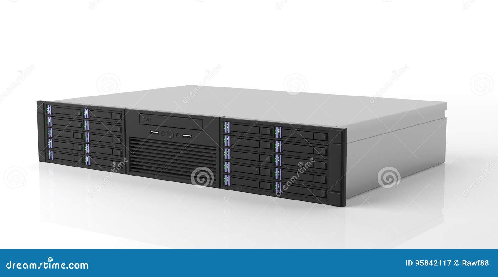 Download comp  sc 1 st  Dreamstime.com & Computer Server Storage Unit On White Background. 3d Illustration ...