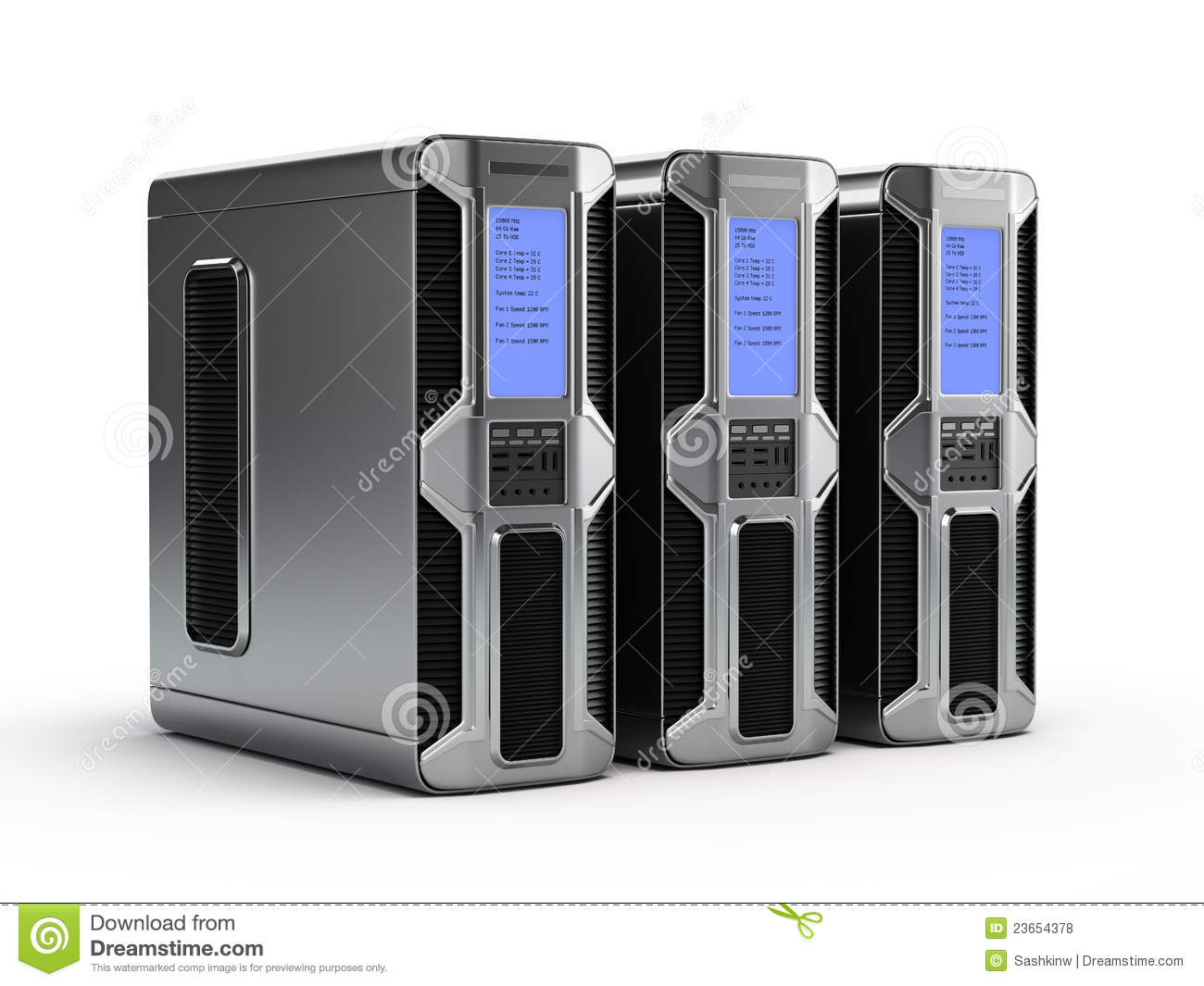 Computer Servers Royalty Free Stock Photos - Image: 23654378