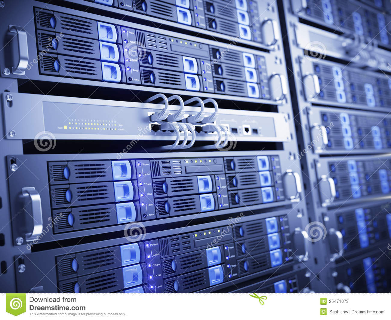 Computer Servers Stock Photos - Image: 25471073
