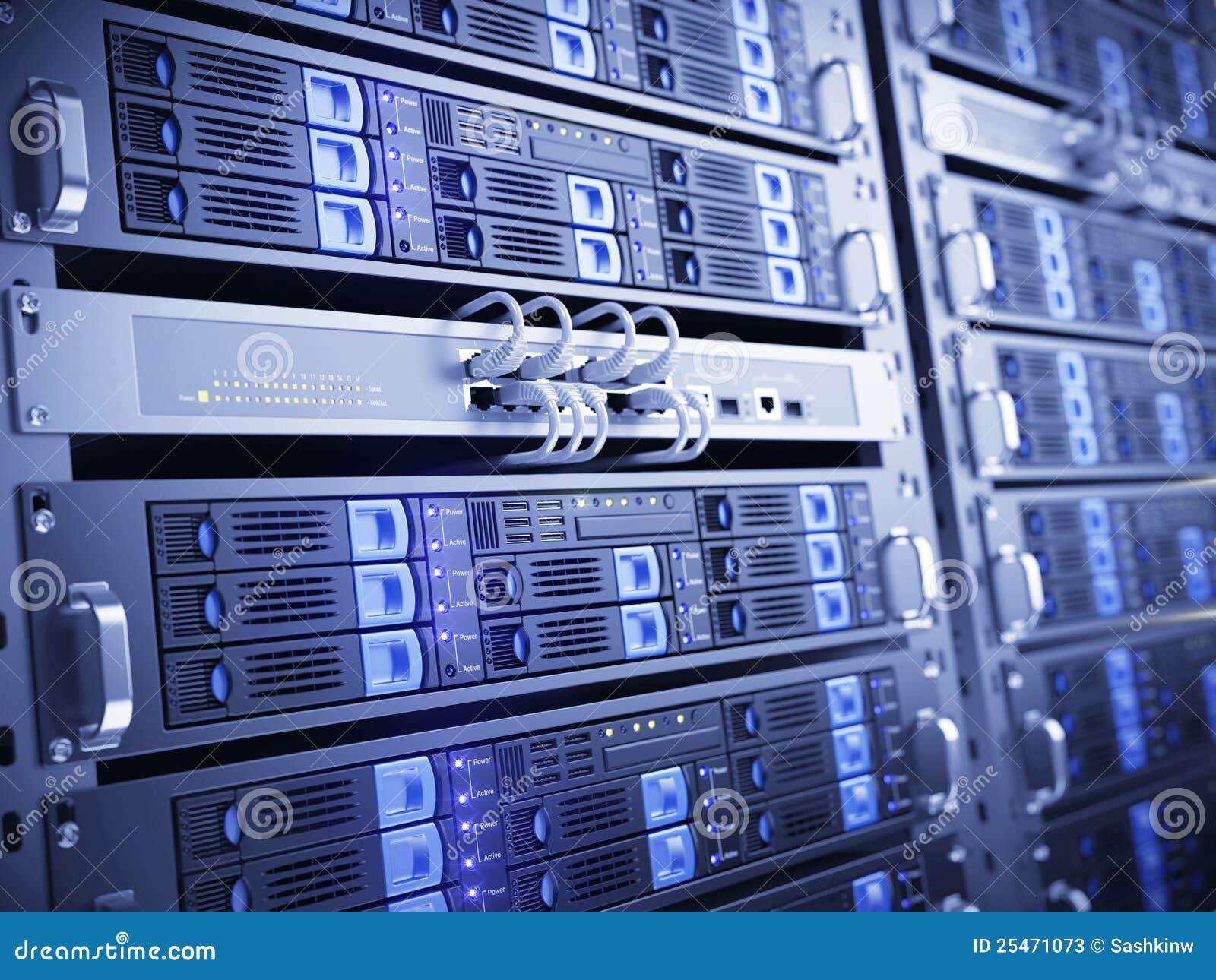 Computer Servers Stock Illustration Illustration Of