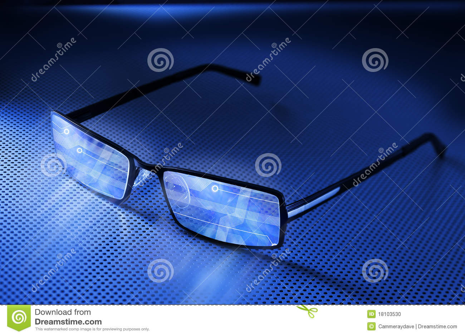 Computer Smart Eye Glasses Technology
