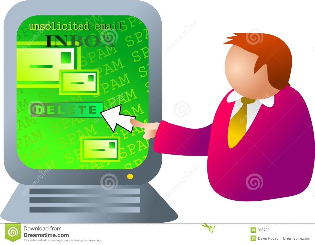 Computer Spam Royalty Free Stock Photos - Image: 365798