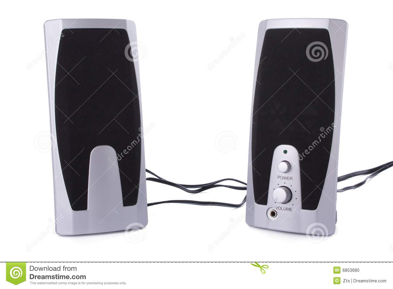 computer speakers white. royalty-free stock photo. download computer speakers isolated on white -
