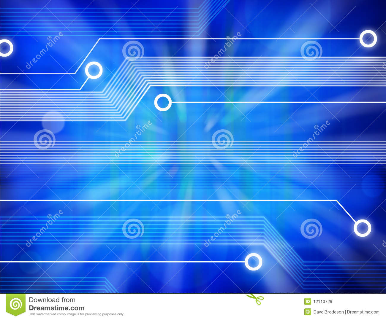 Technology Abstract Background Stock Illustration: Computer Technology Abstract Background Stock Illustration