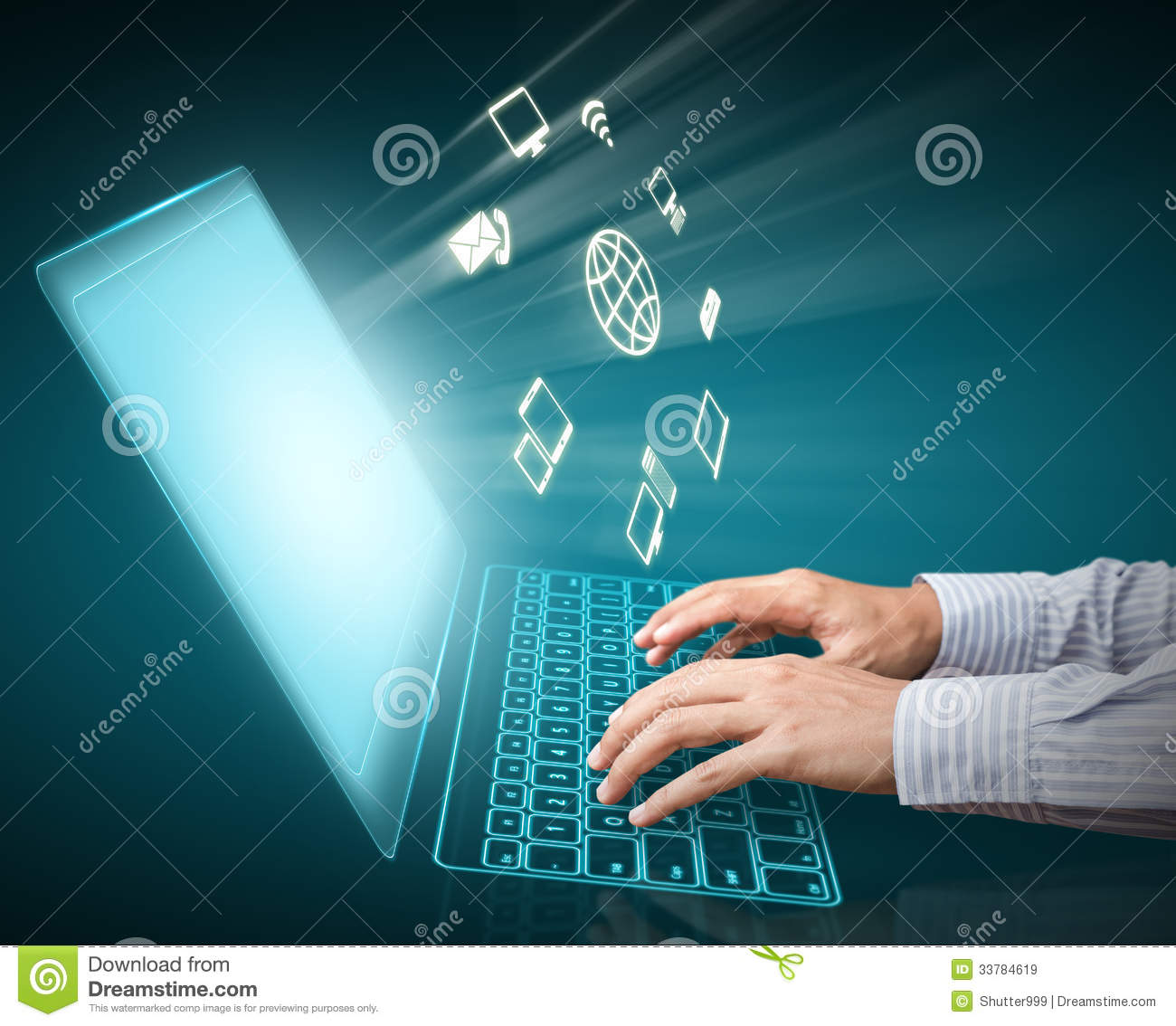 ... And Cloud Computing Royalty Free Stock Images - Image: 33784619: www.dreamstime.com/royalty-free-stock-images-computer-technology...