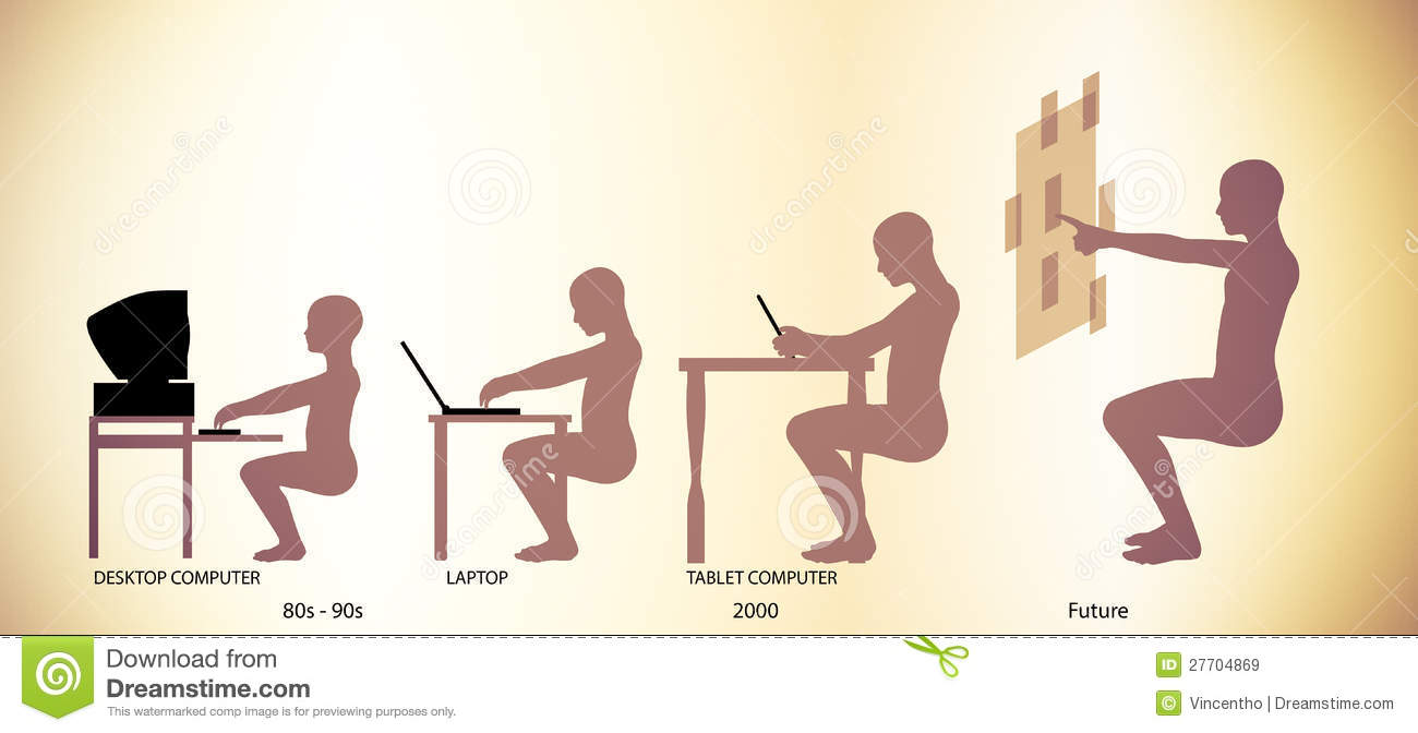 computer technology evolution timeline pictogram royalty royalty stock photo