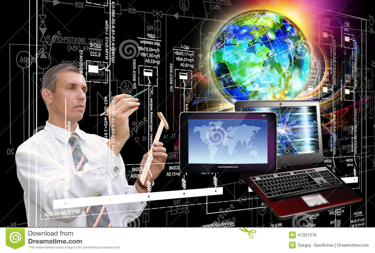 computer technology generation new computer technology stock photo