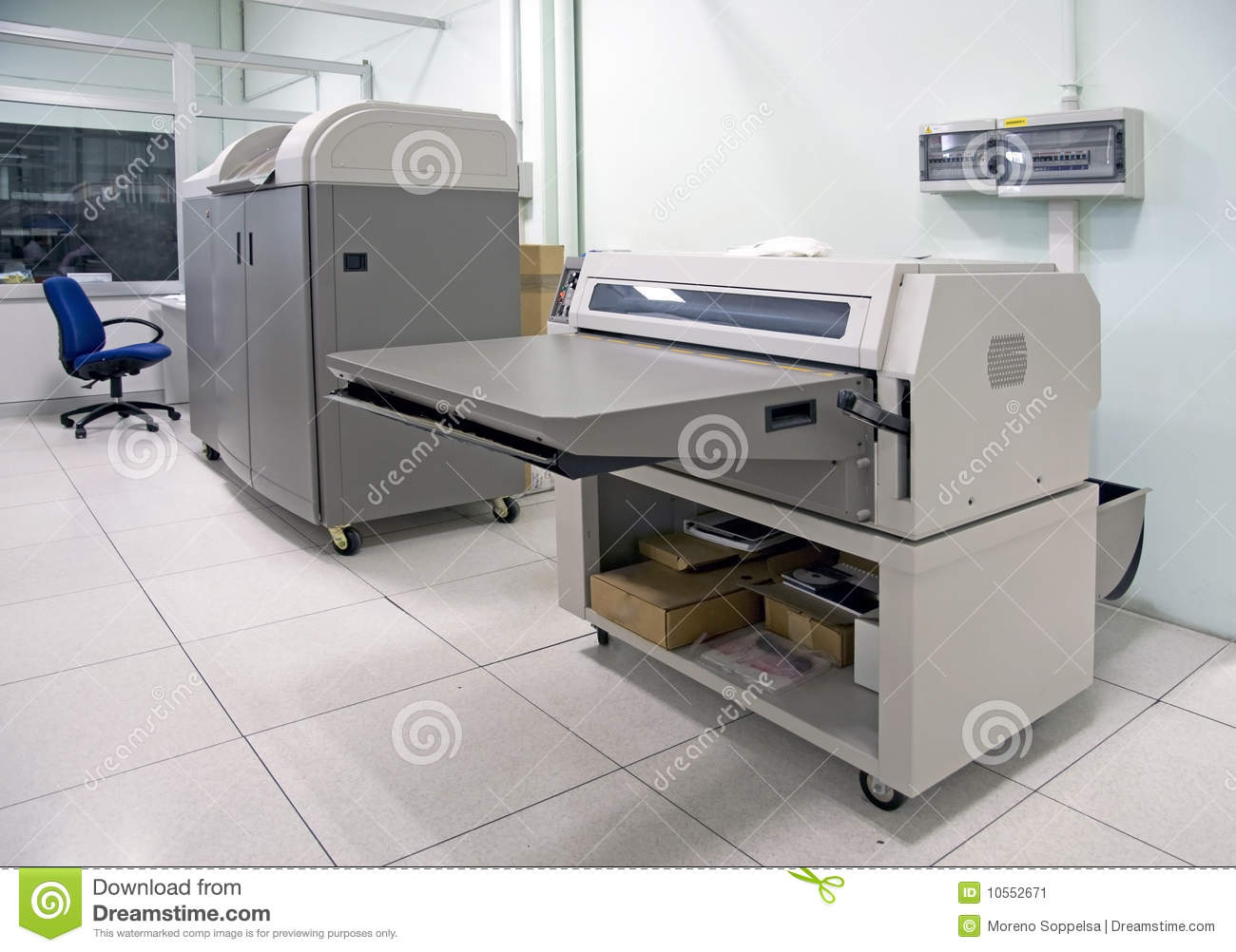 Computer To Plate (CTP) - Printing Process Stock Image