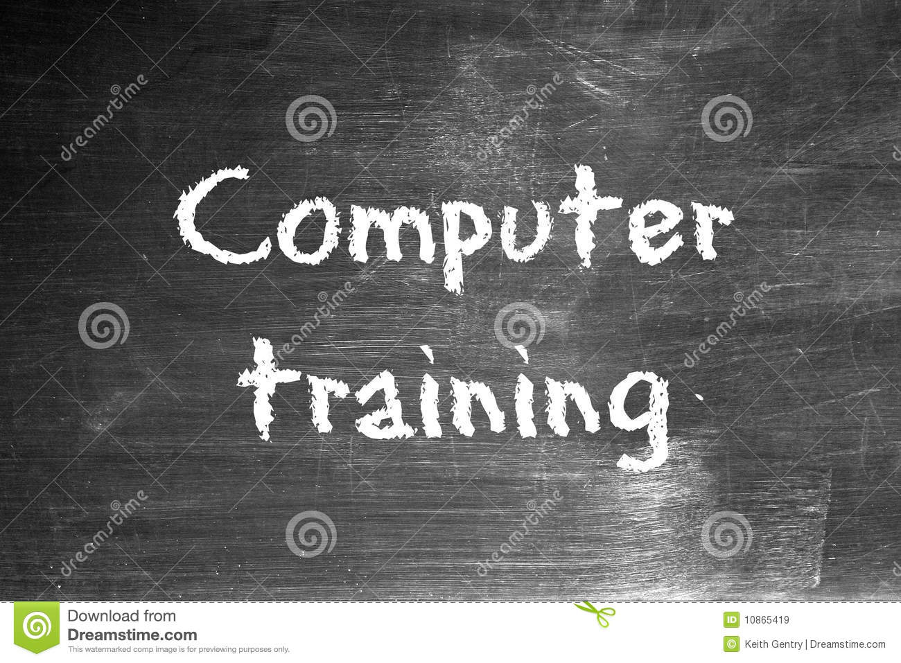 Computer training stock illustration  Illustration of blackboard