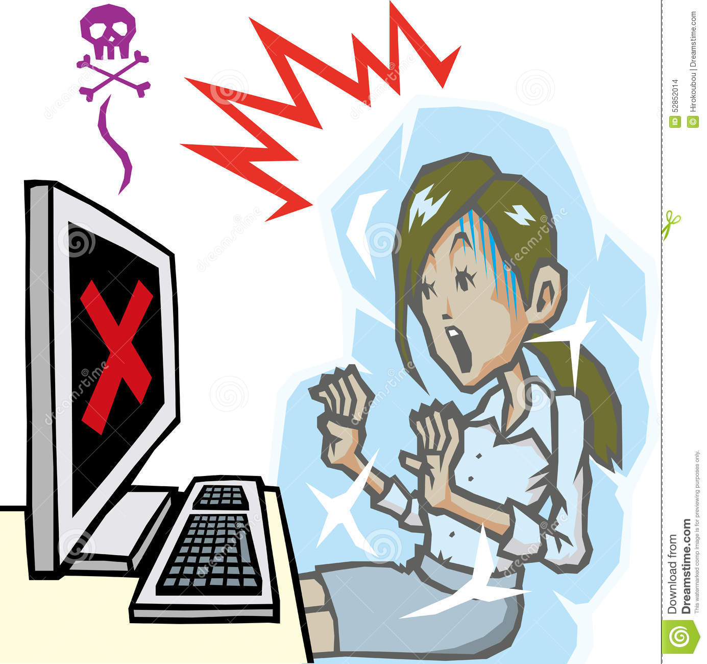 Computer Trouble: Computer Trouble Stock Illustration. Illustration Of