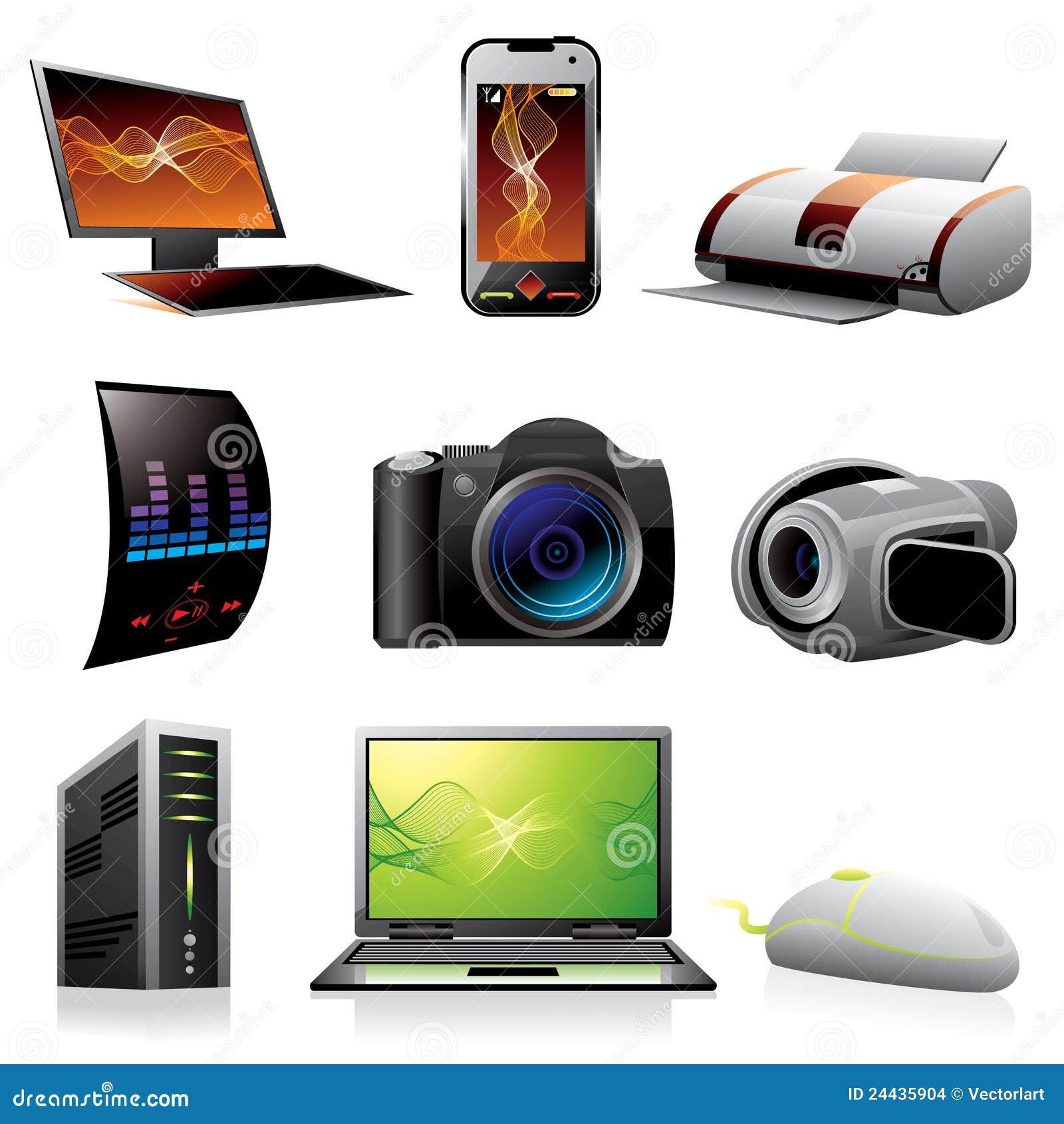 Computer und Elektronikikonen