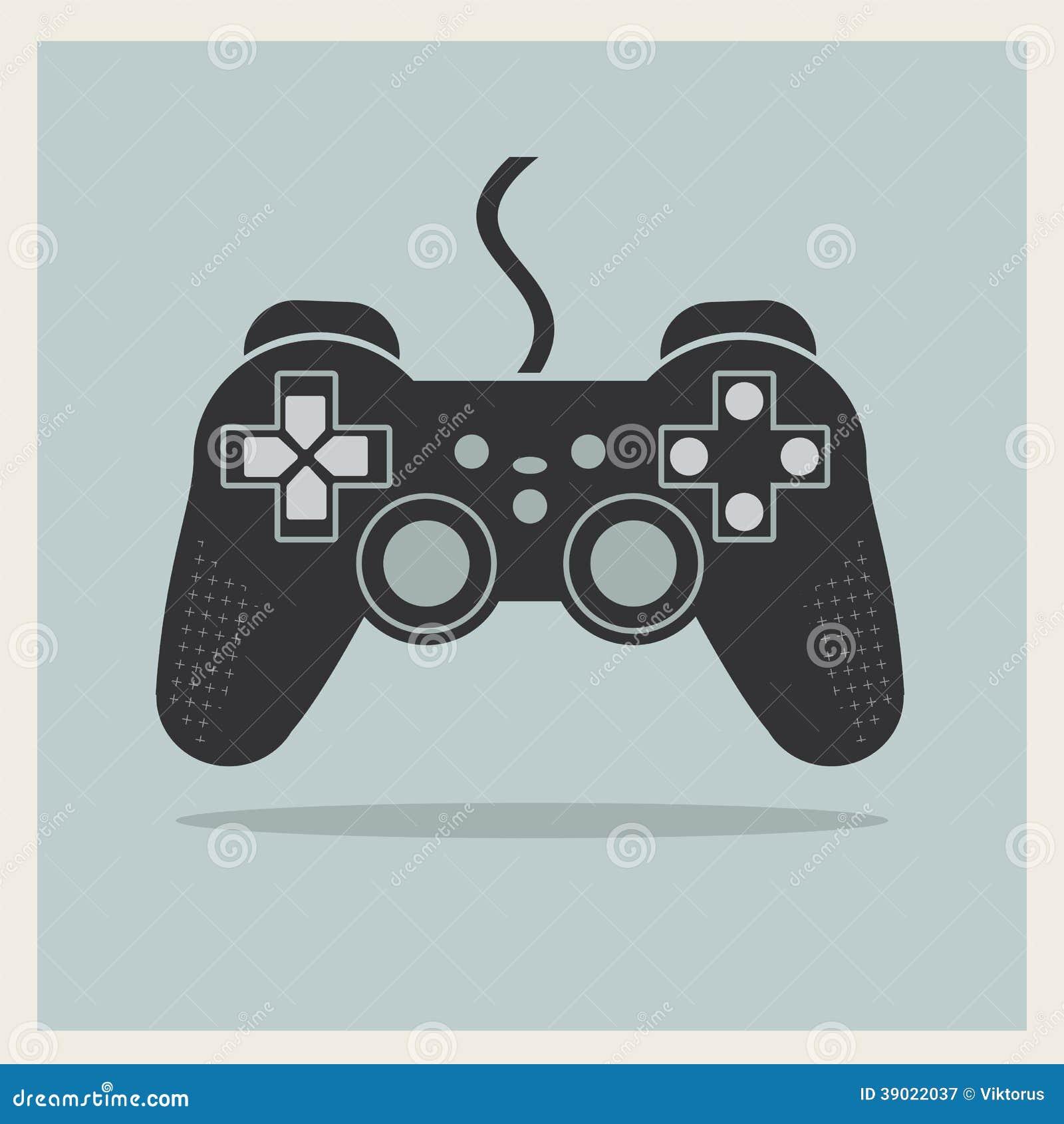Computer Video Game Controller Joystick Vector Stock ...