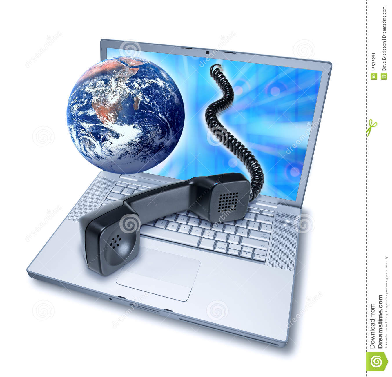 Computer Video Phone Teleconference Stock Image - Image: 16535281