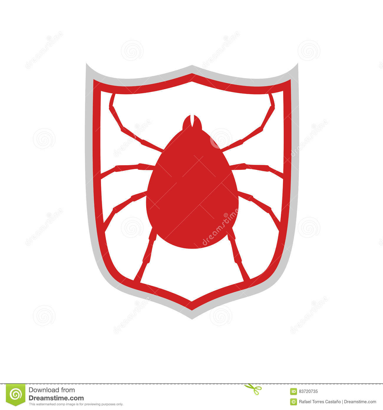 Computer Virus Protect Symbol Stock Vector