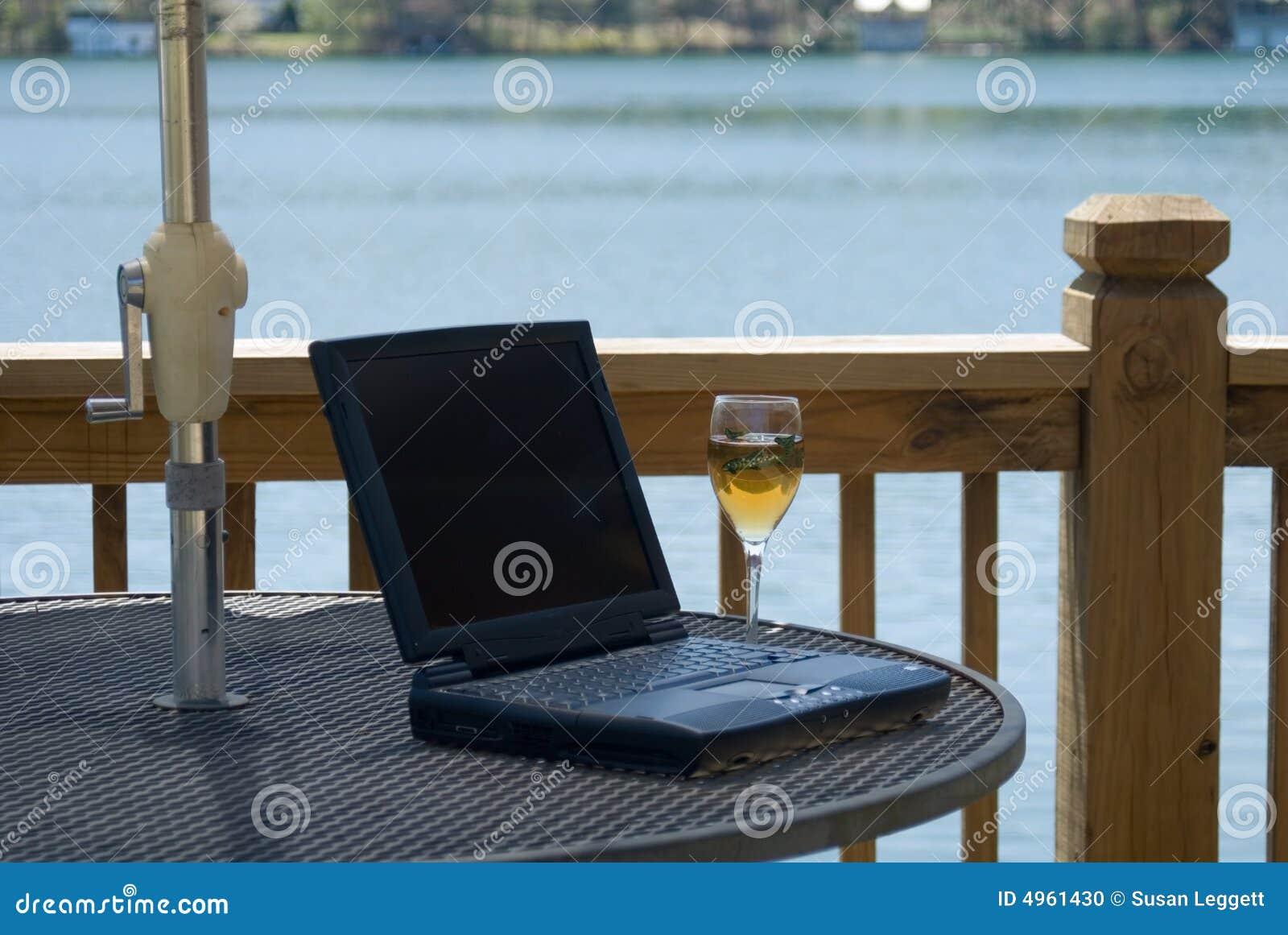 Computer and wine