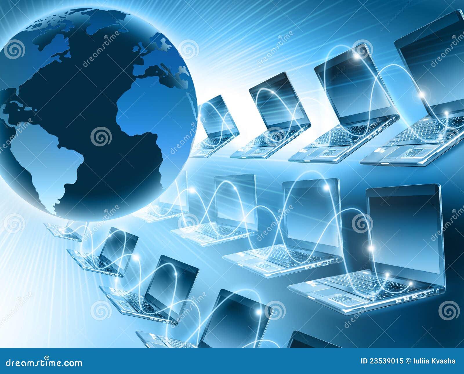Computer World Stock Image Image Of Communicating