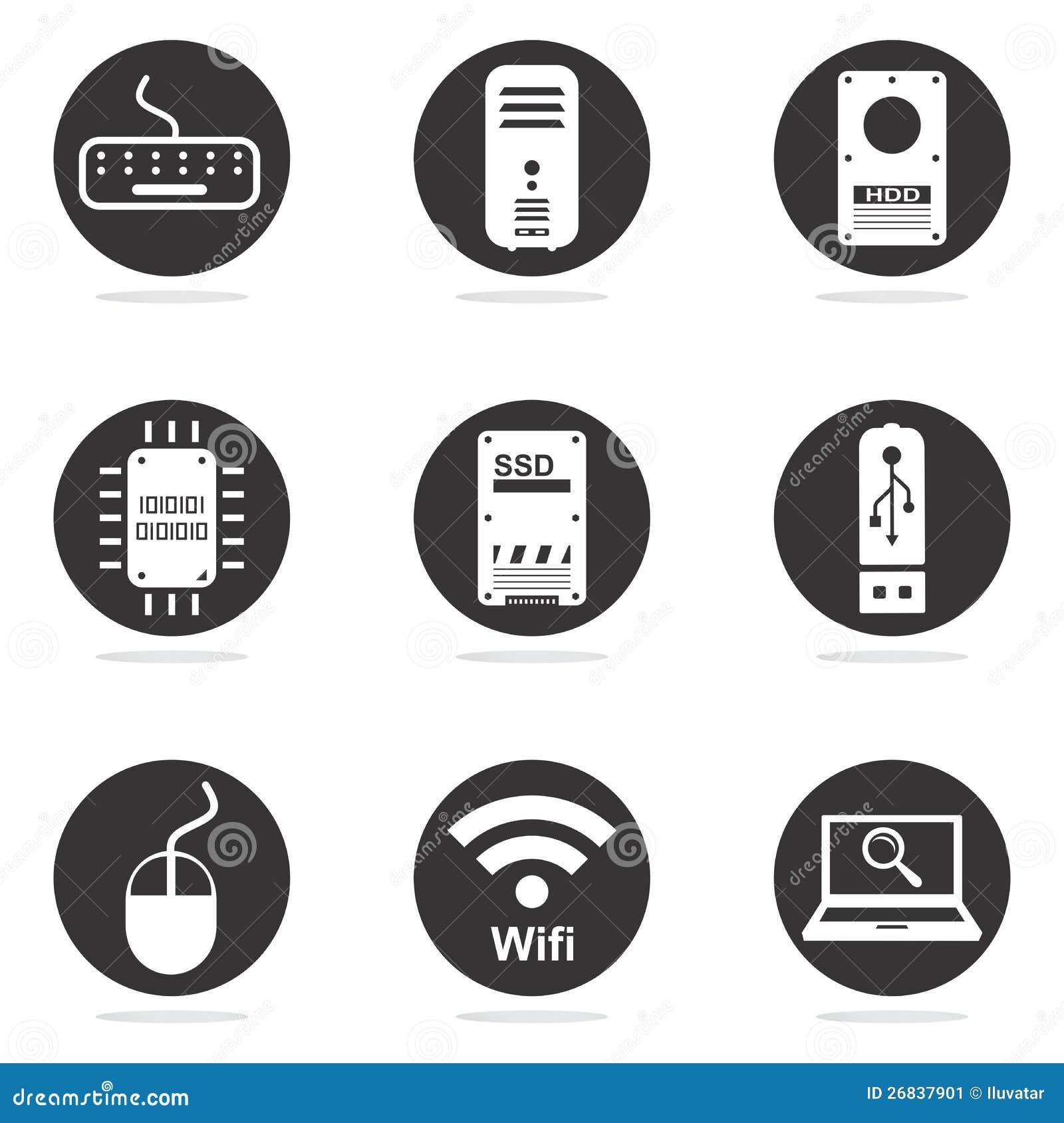 Computerhardware-Ikonenset