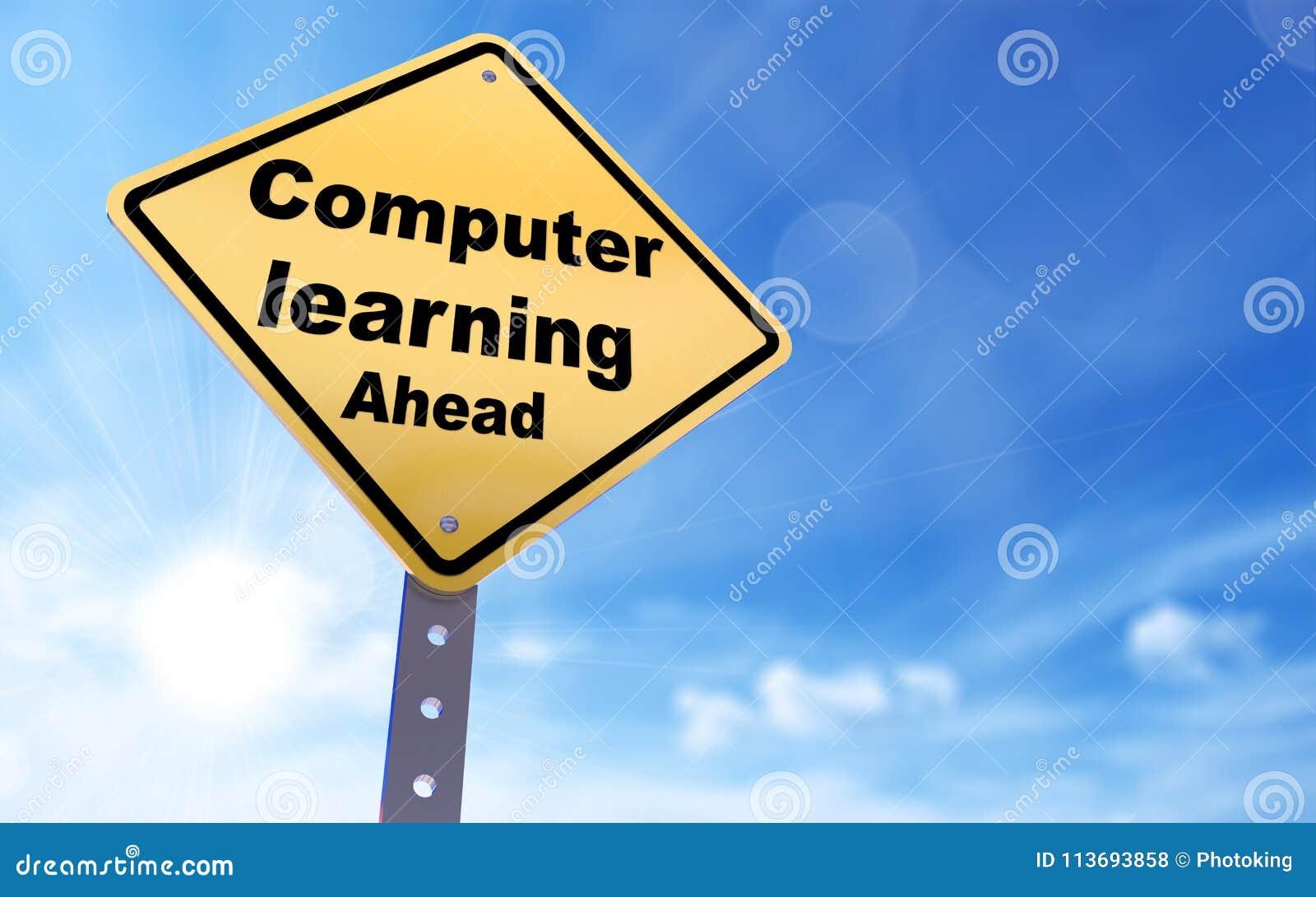 Computerlernen- voran Zeichen