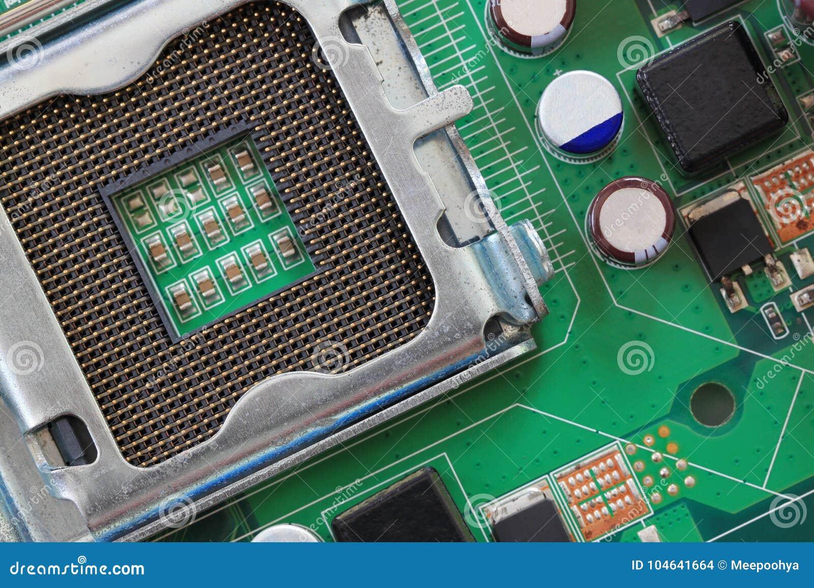 Download Computermotherboard Van Details Stock Foto - Afbeelding bestaande uit digitaal, elektronika: 104641664