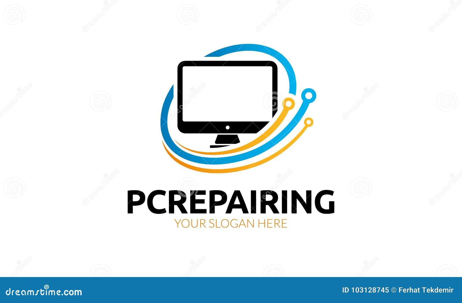 Computerreparatie Logo Template