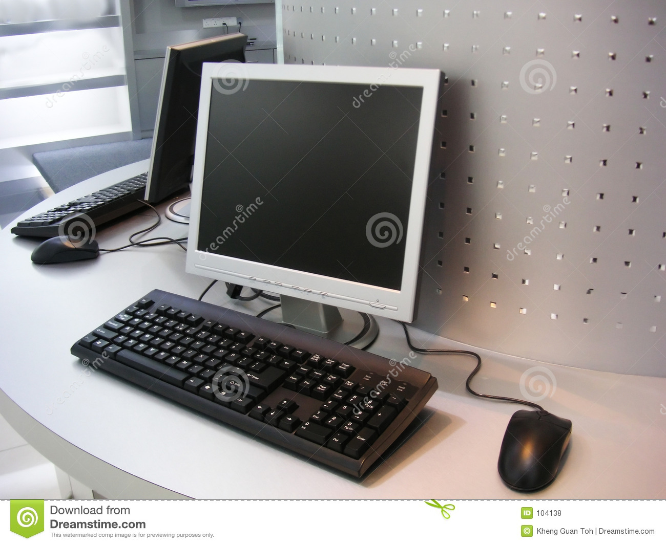 Royalty free stock photos computers with flat screen