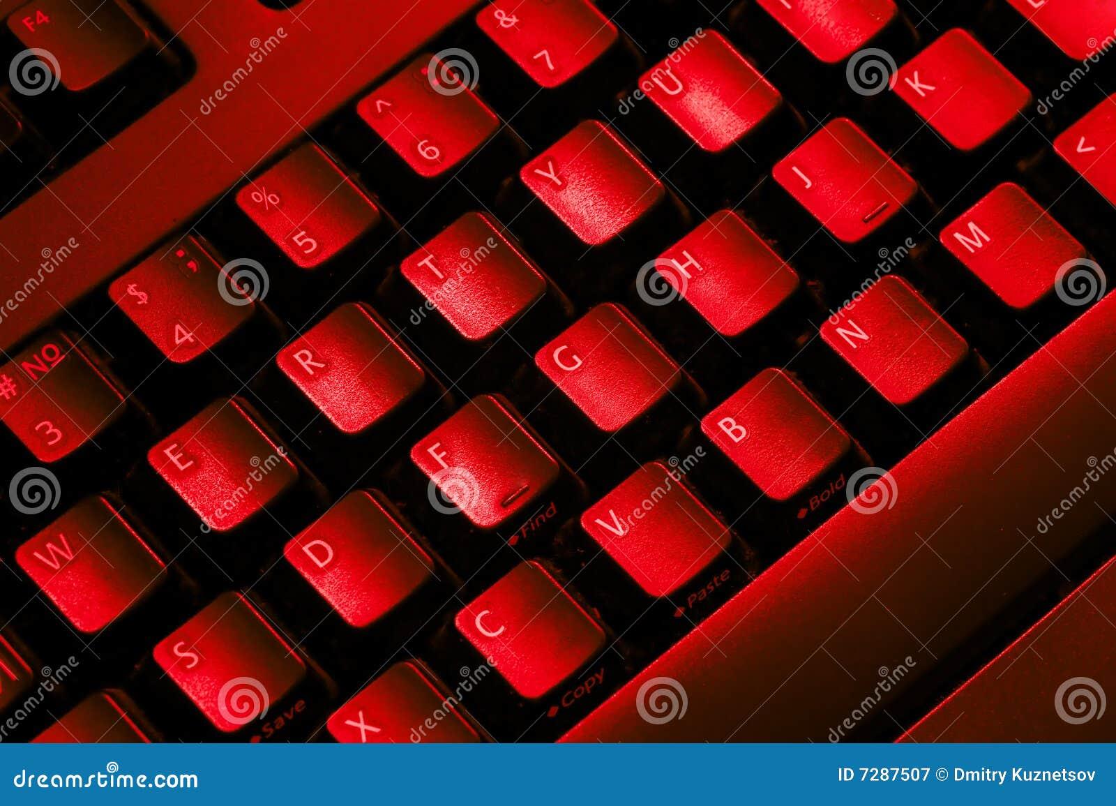 Computertastatur.