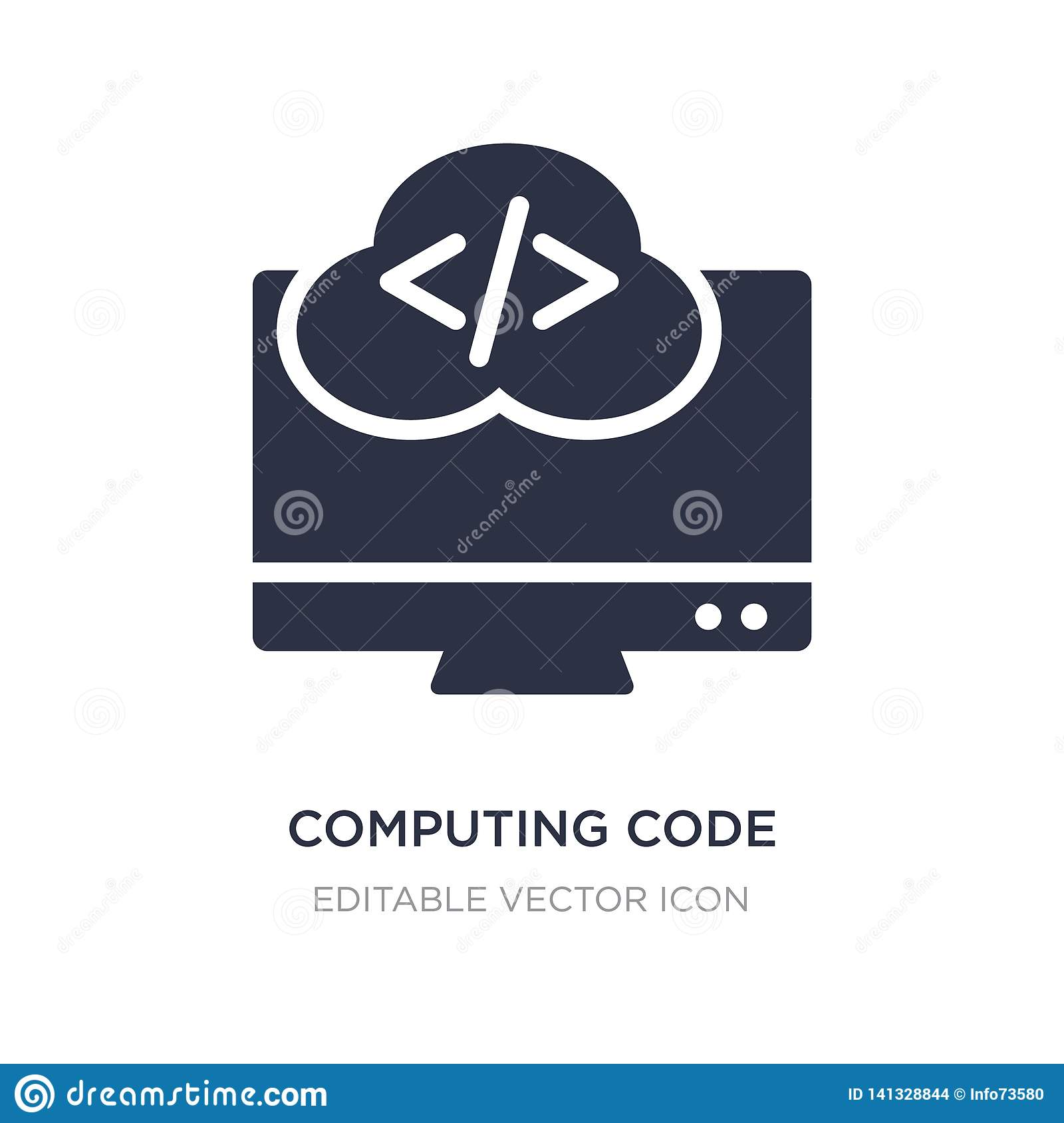 computing code icon on white background. Simple element illustration from Computer concept