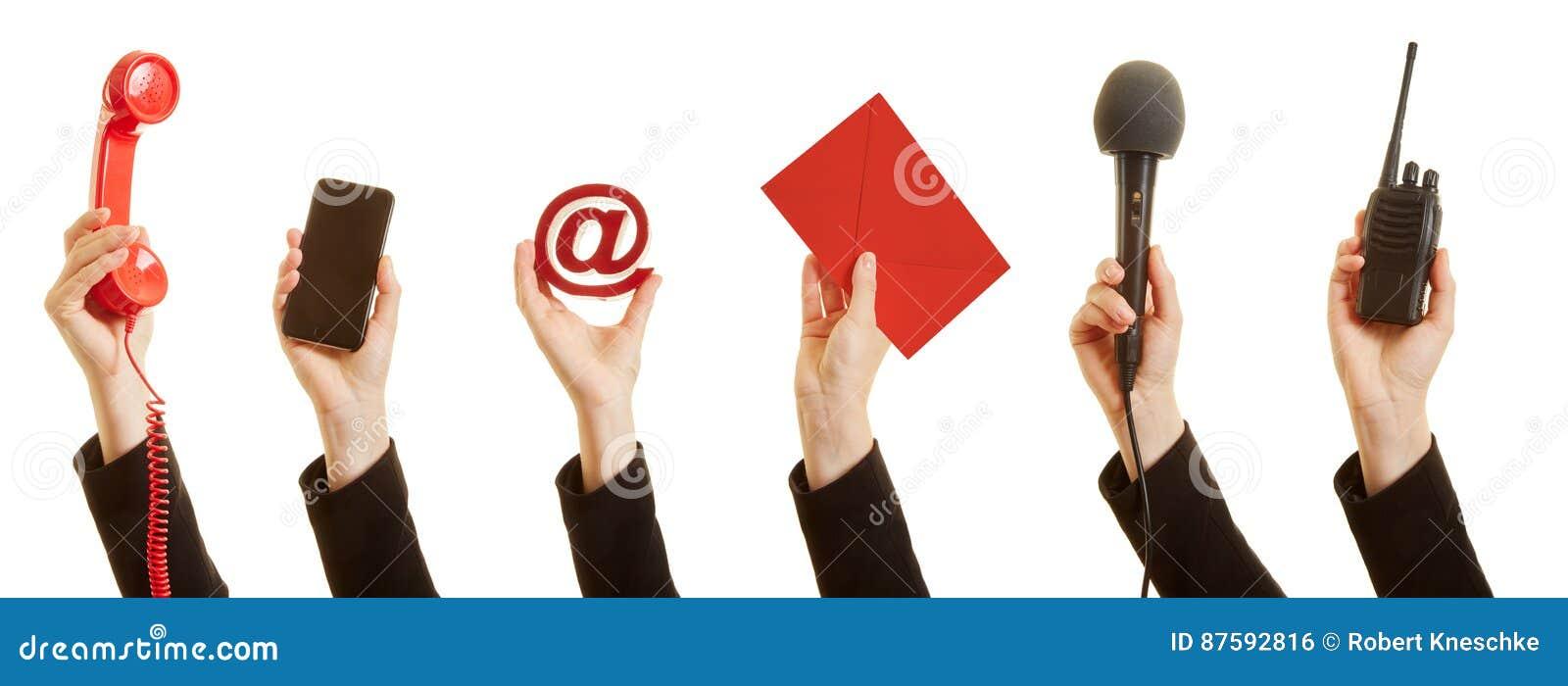 Comunicación con un servicio de atención al cliente como concepto