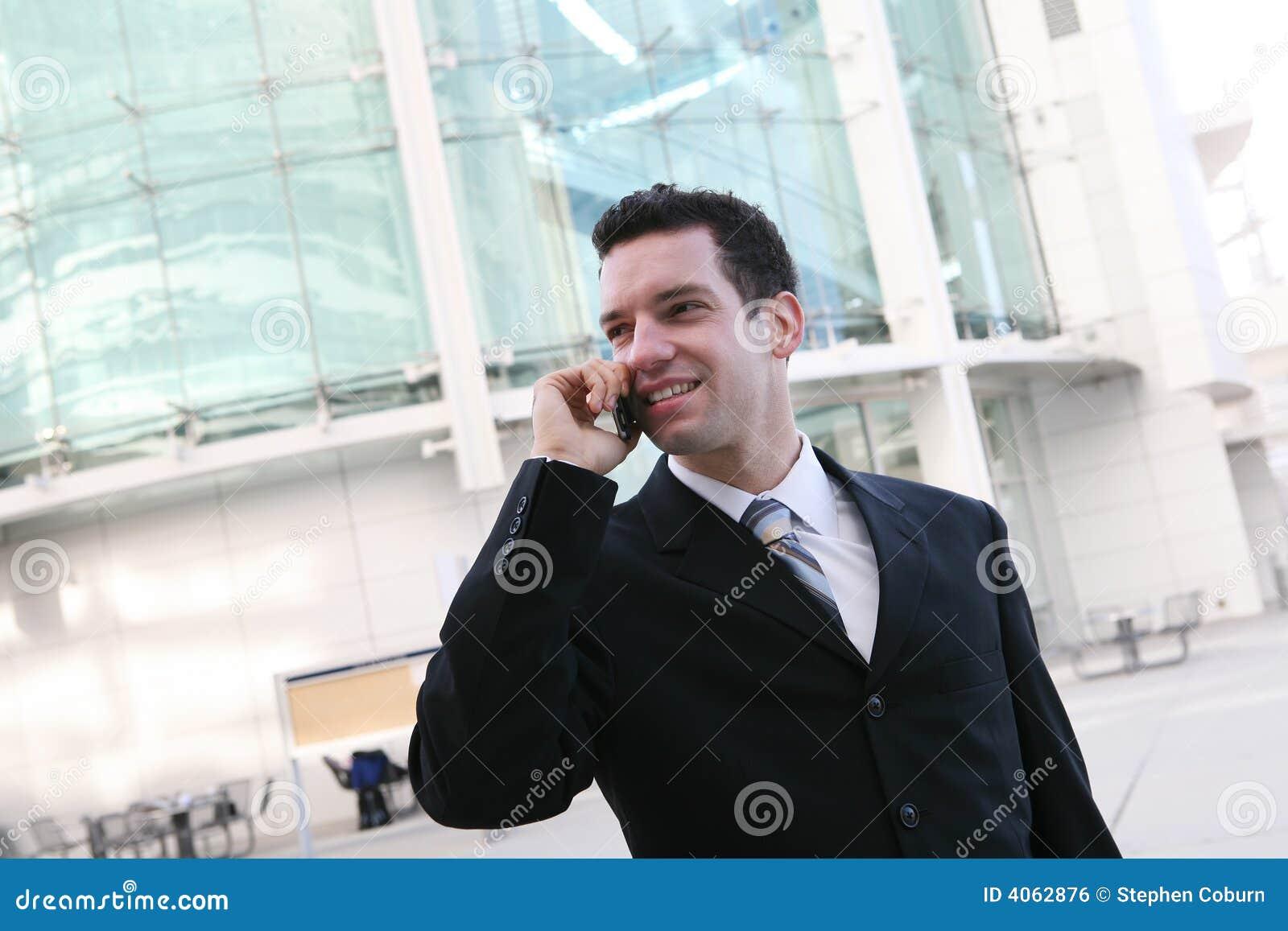 Comunicación del hombre de negocios
