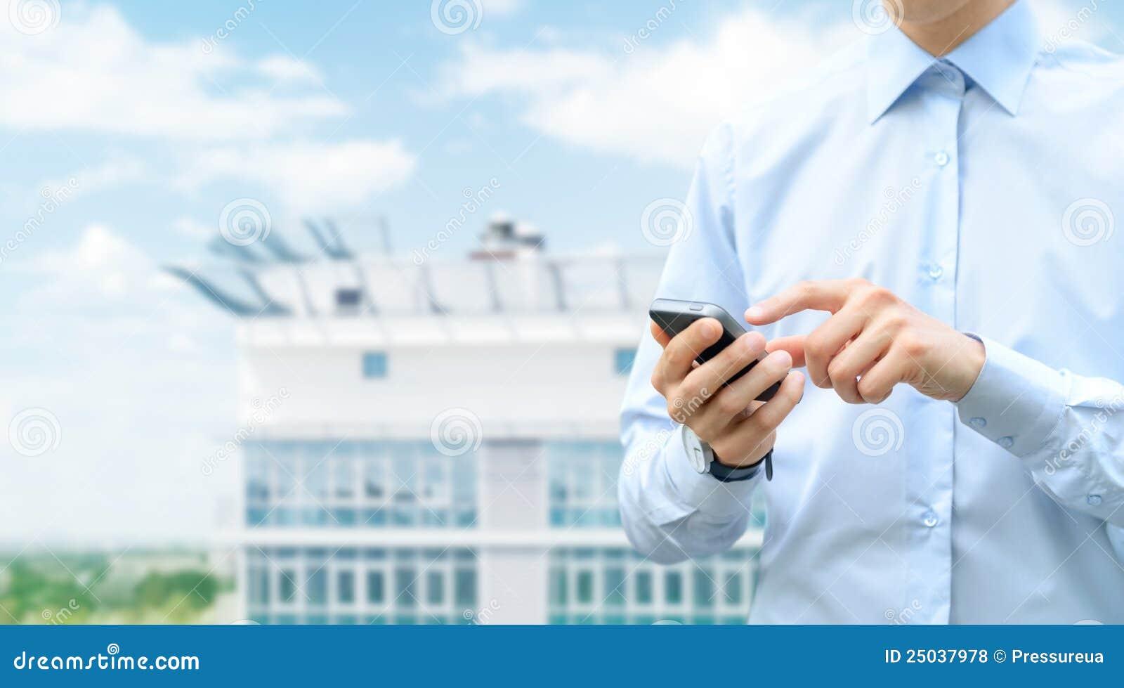 Comunicación móvil con el espacio de la copia