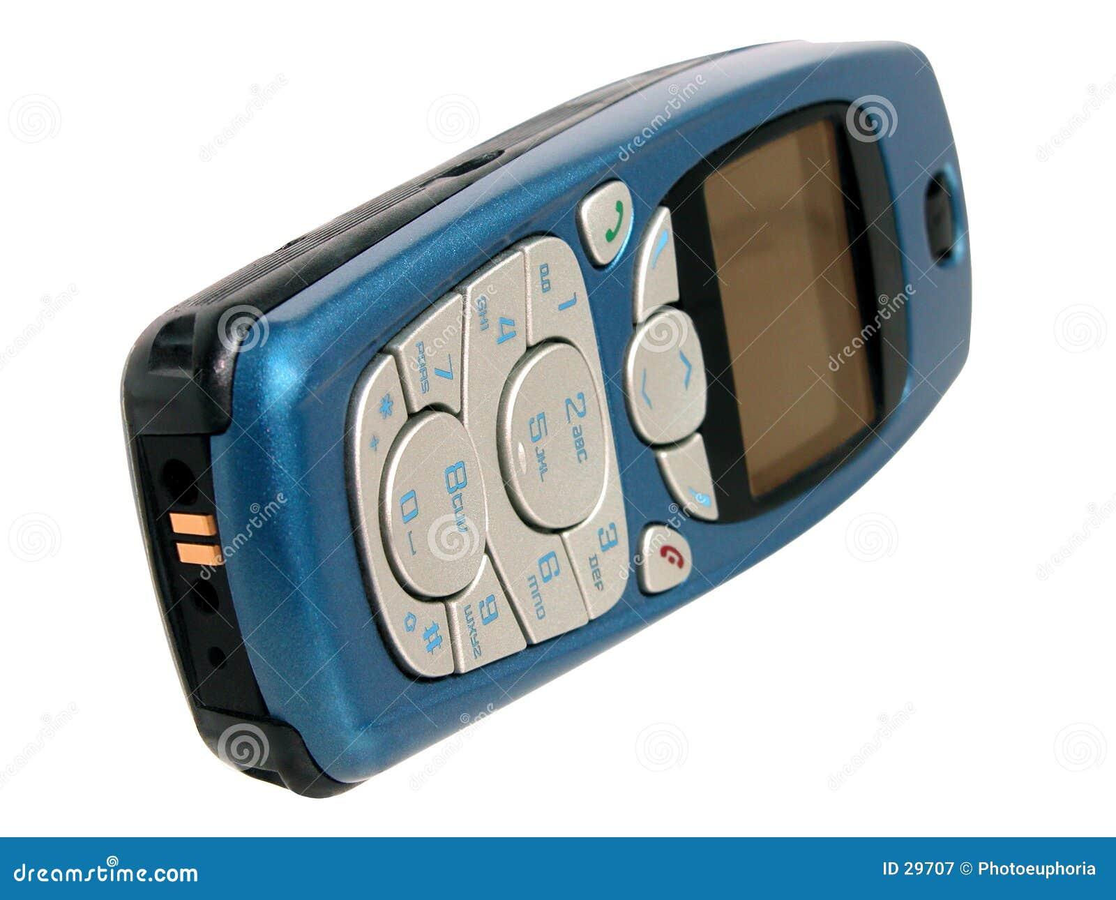 Comunications: Mobiltelefon getrennt auf Weiß
